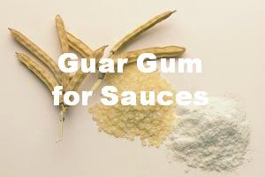 Guar gum for sauces